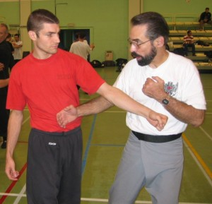 Bob Orlando on the right, about to punch one of my students.