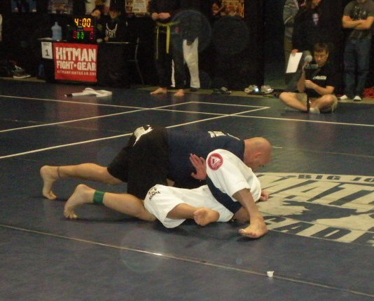 Mark Mireles competing in MMA
