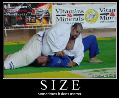 size matters in martial arts