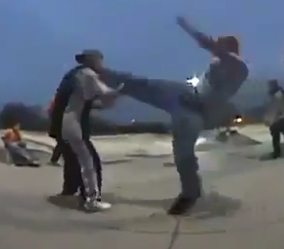High kicks don't work in the street