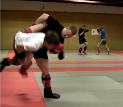 how to be more aggressive when sparring