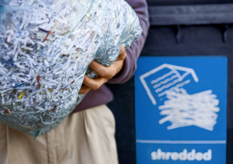 how to fill a heavy bag with shredded cloth